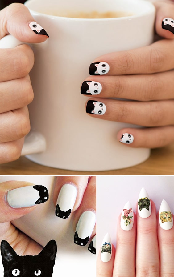 20 Puuuurfect Cat Manicures Cat Nail Art Designs For Lovers - Page 3