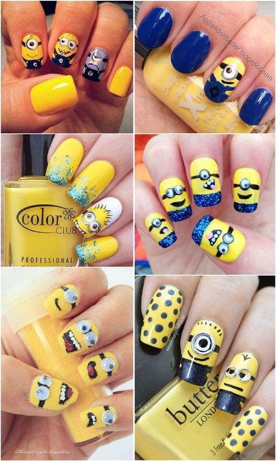 minion-nails - 15 Minion Nails That Are Anything But Despicable - Style & Designs
