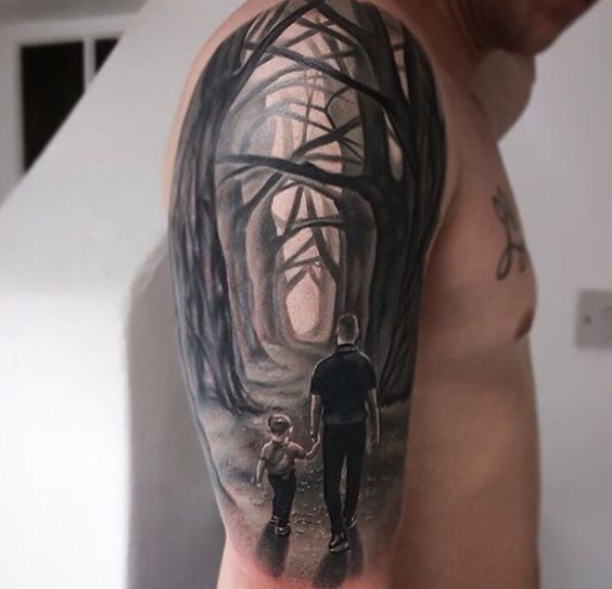 Father and son Tattoo