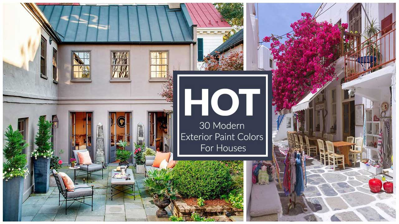 Modern Exterior Paint Colors For Houses - Style & Designs