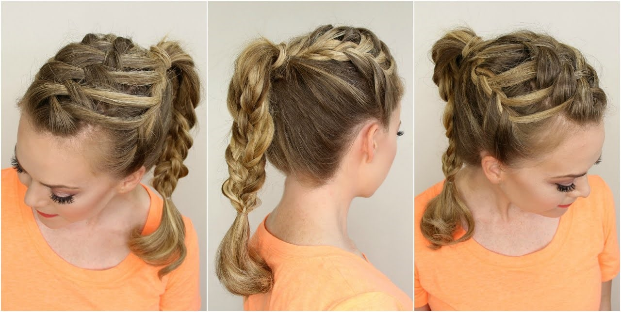 Triple French Braid-10 Creative Hair Braid Style Tutorials-7