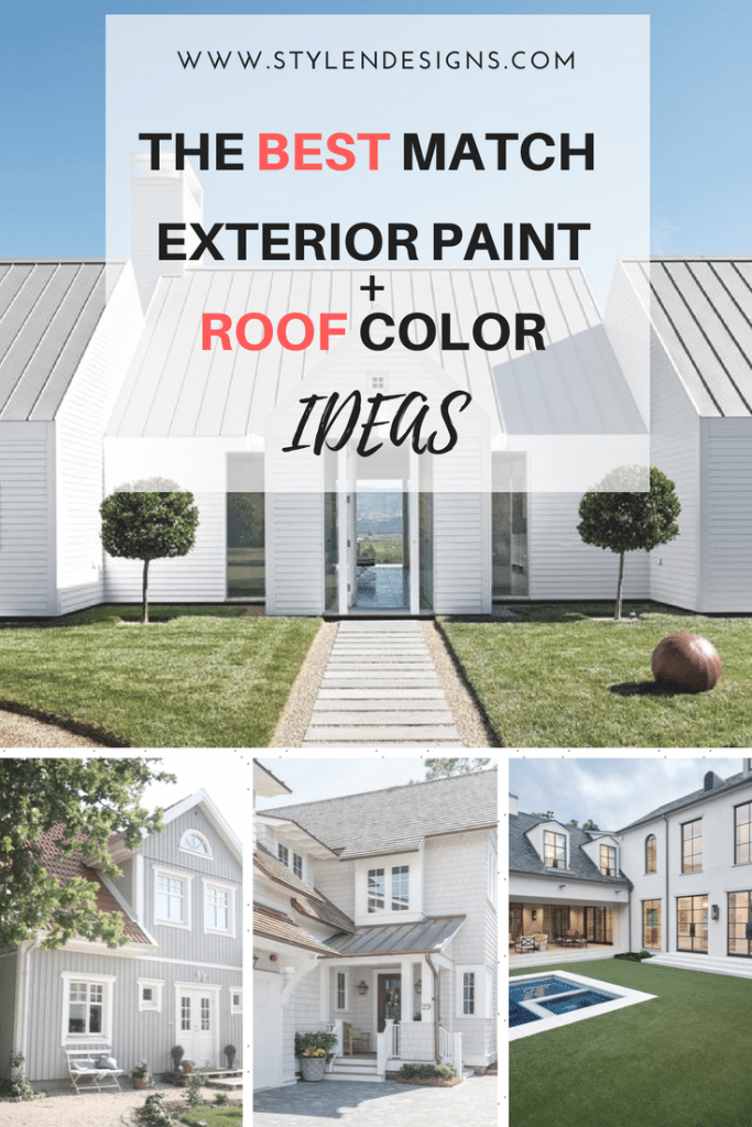 How To Pick The Exterior Paint Colors Match Best With The Roof ...