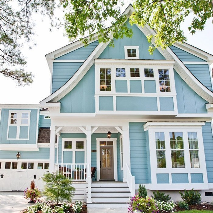 exterior paint color aqua