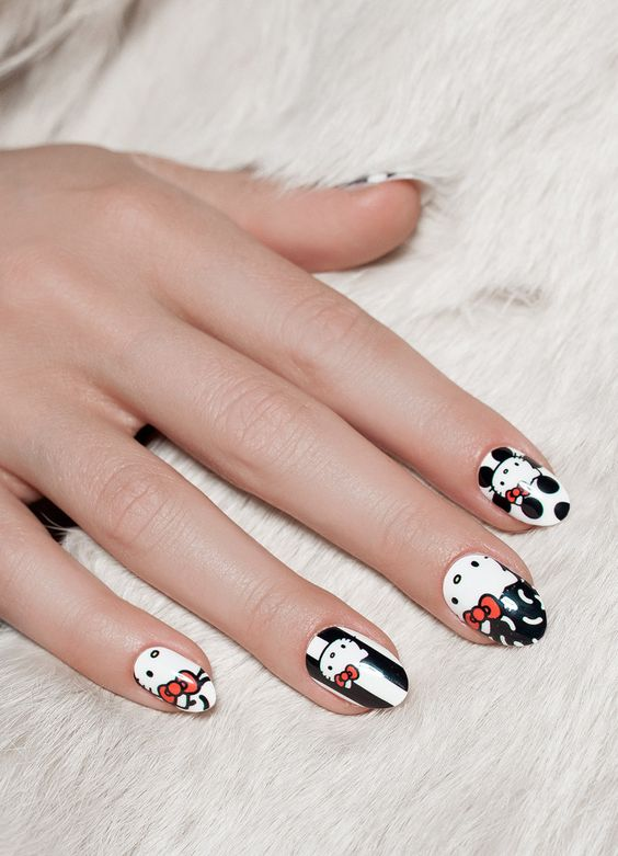 20 Puuuurfect Cat Manicures Cat Nail Art Designs For Lovers - Page 4