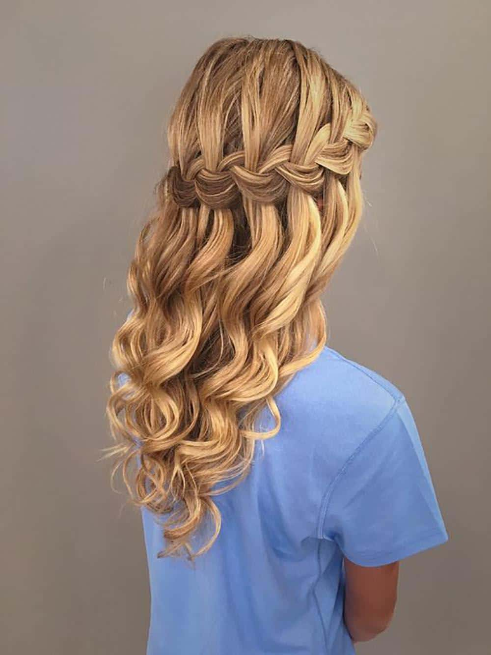 waterfall hairstyles