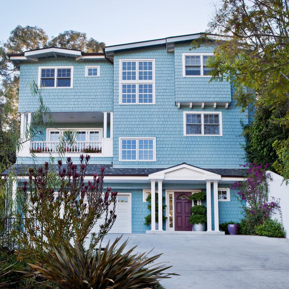 exterior paint blue