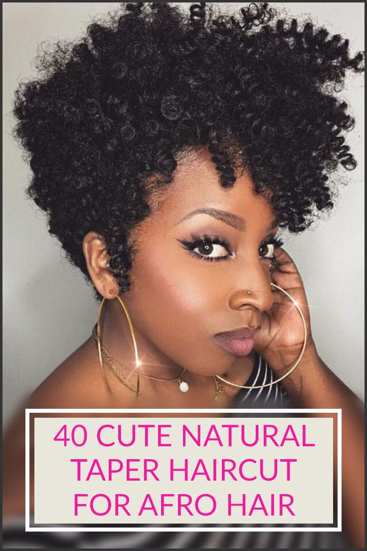 40 Cute Natural Taper Haircut for Afro Hair - Style & Designs