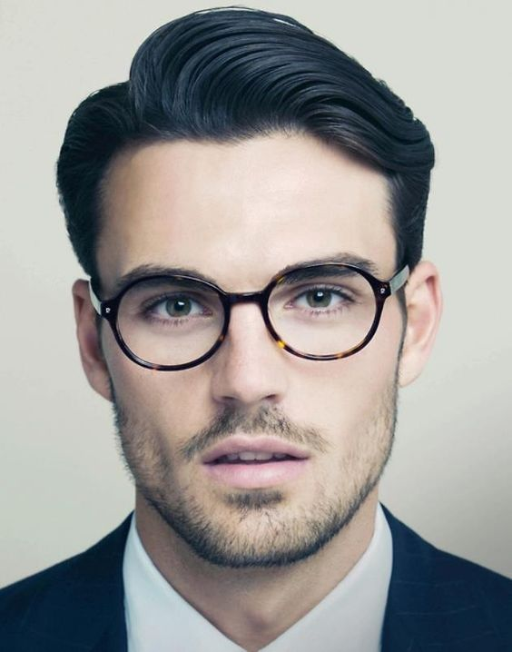 thick hair men long top curly-5 Retro styled professional cut