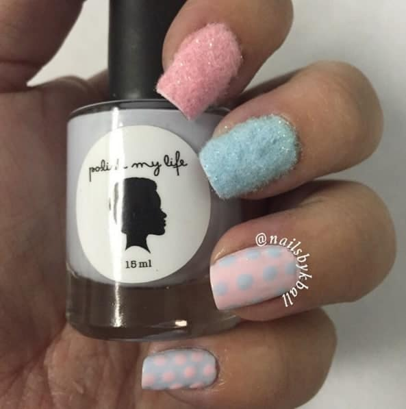 Cotton Candy Satin Fingernail Polish: Sweet Cotton Candy Nail Colors And Designs