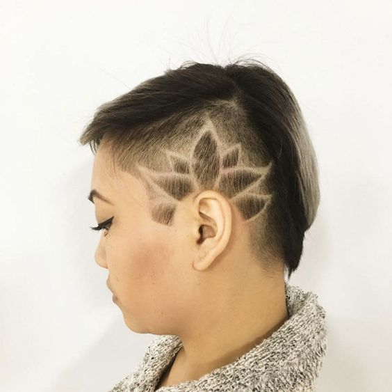 45 undercut hairstyles with hair tattoos for women. Black Bedroom Furniture Sets. Home Design Ideas