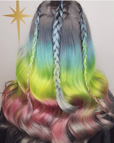 Unicorn Cappuccino hair color