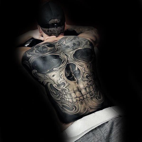 3d skull tattoo for men style designs. Black Bedroom Furniture Sets. Home Design Ideas