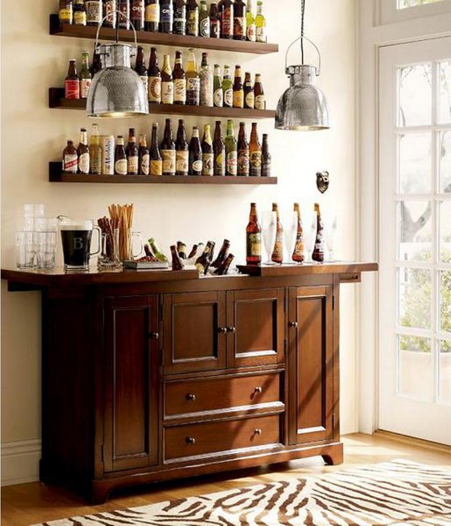 Bar Design Ideas: Cool Minibar Idea In Small Space