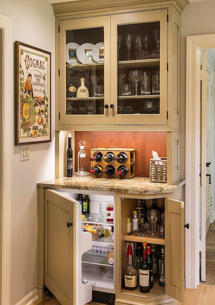 Cool minibar idea in small space stylendesigns - Mini bar in house ...