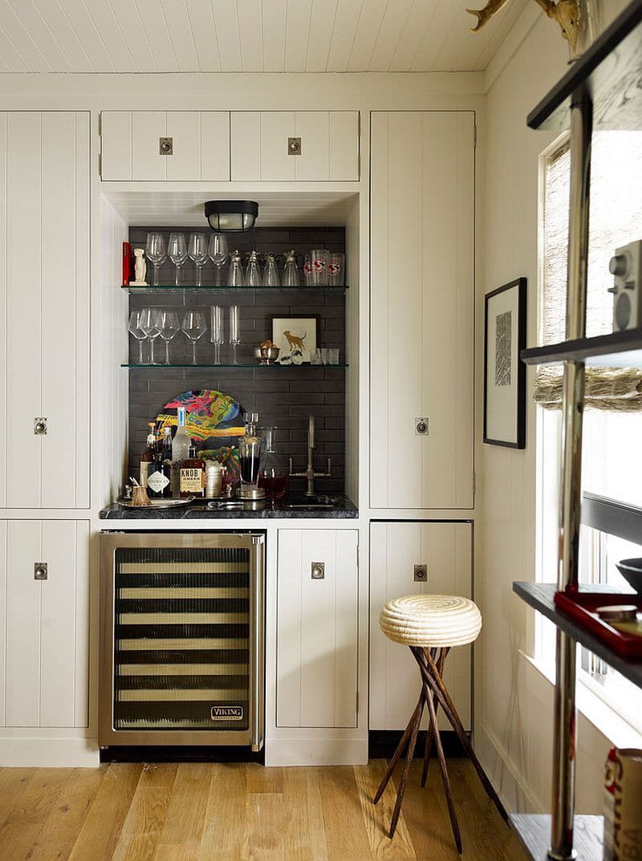 Cool Minibar Idea In Small Space