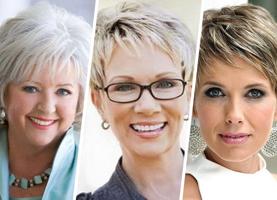 Short Hairstyles For Older Woman With Fine Thin Hair
