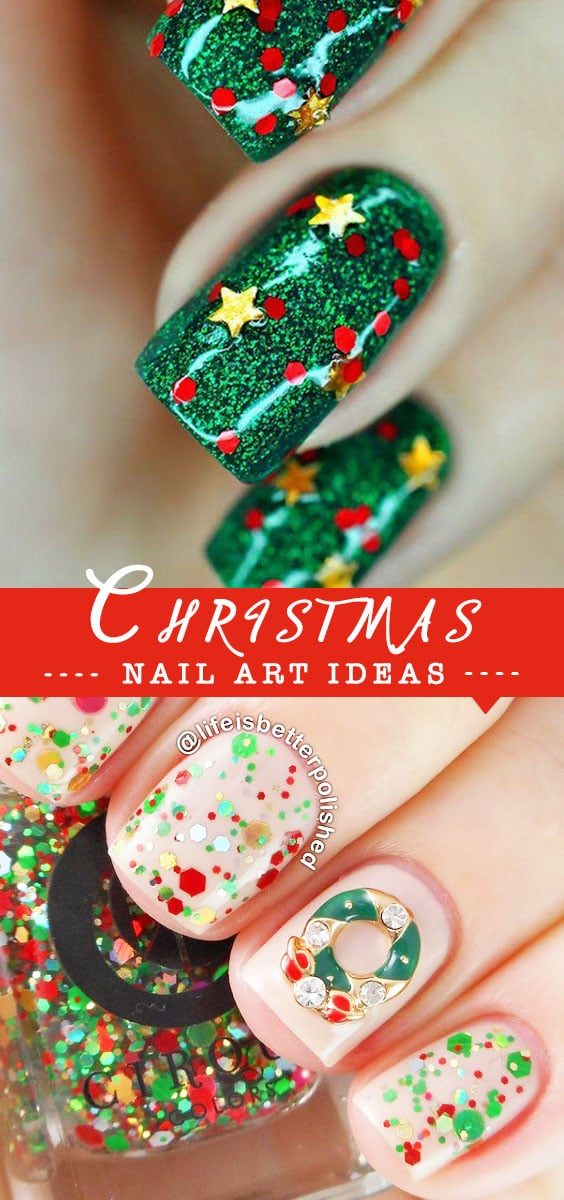 Bright and Festive Christmas Nail Art Designs For This Season ...