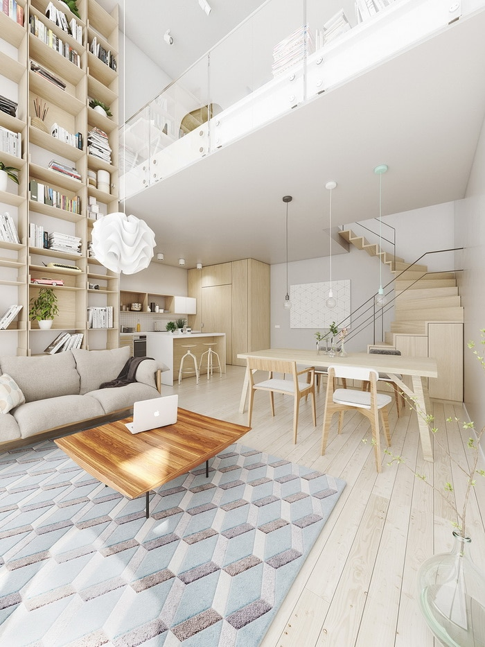 Source: home-designing & A Double Height Living Room with Large Windows Ideas - Style \u0026 Designs