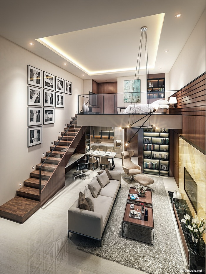 Pin It on Pinterest & A Double Height Living Room with Large Windows Ideas - Style \u0026 Designs