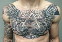 men chest tattoo