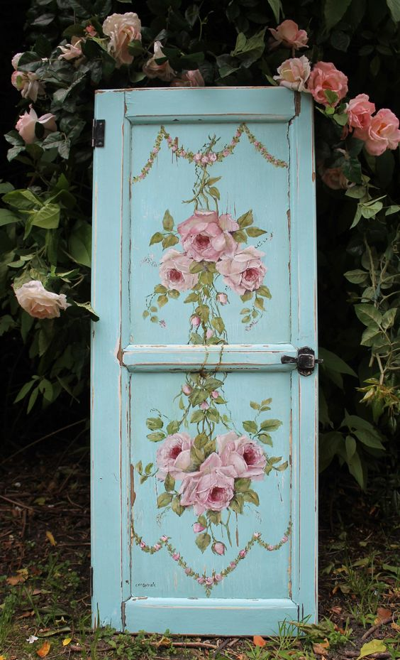 Vintage painted door craft project