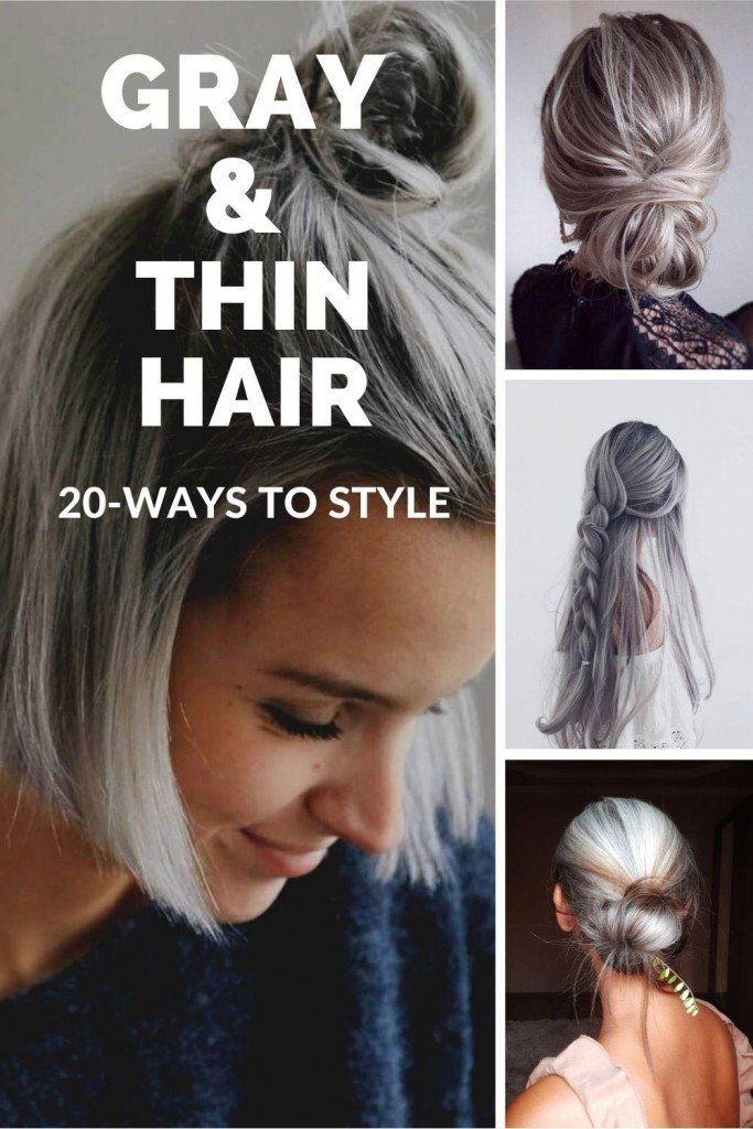 hairstyles for thin gray hair