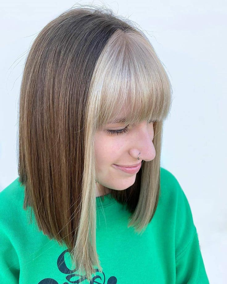 Great Styles For Straight Bangs