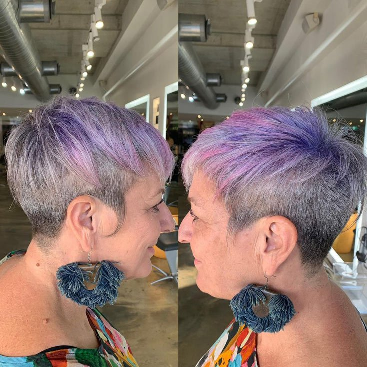 Colorful Pixie Cut