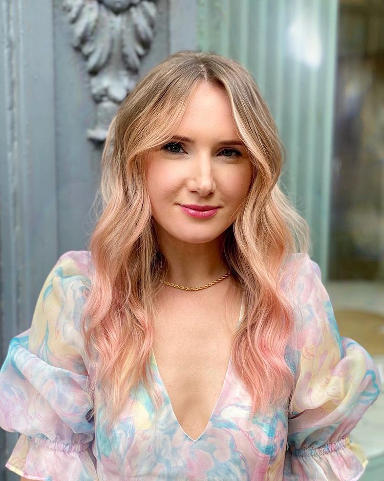 Pretty Pink Blonde hair color
