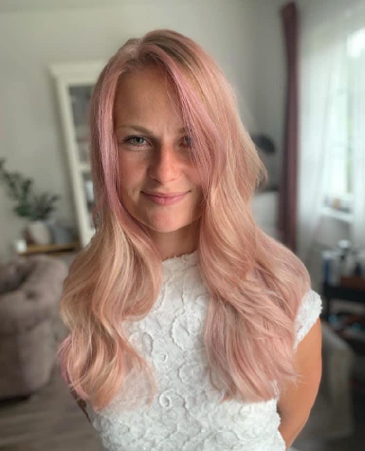 Pink Highlights On Blond Hair