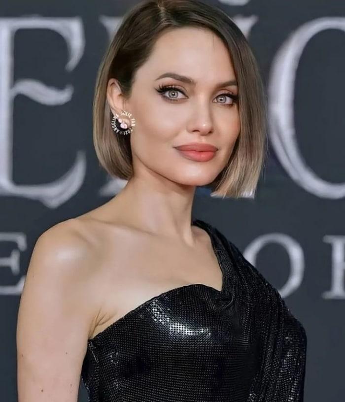 Angelina Jolie with short bob