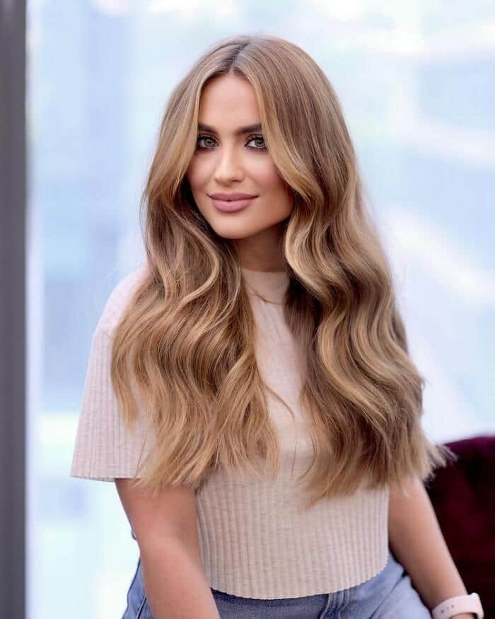 Deep Side Part for Long loose wave Hair