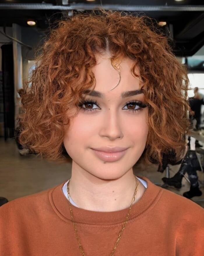 Short-Length Style for Curly Hair