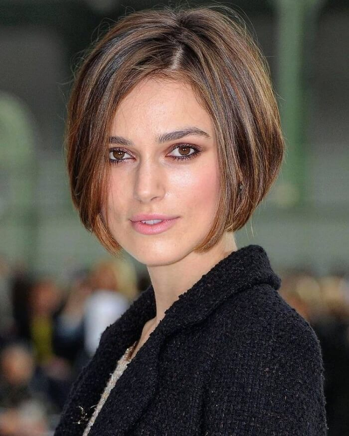 Short Stacked Bob for Square face shape
